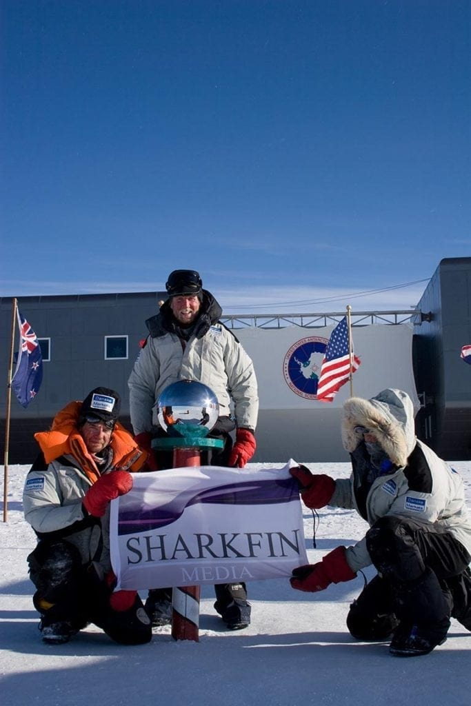 Sharkfin Media at the South Pole